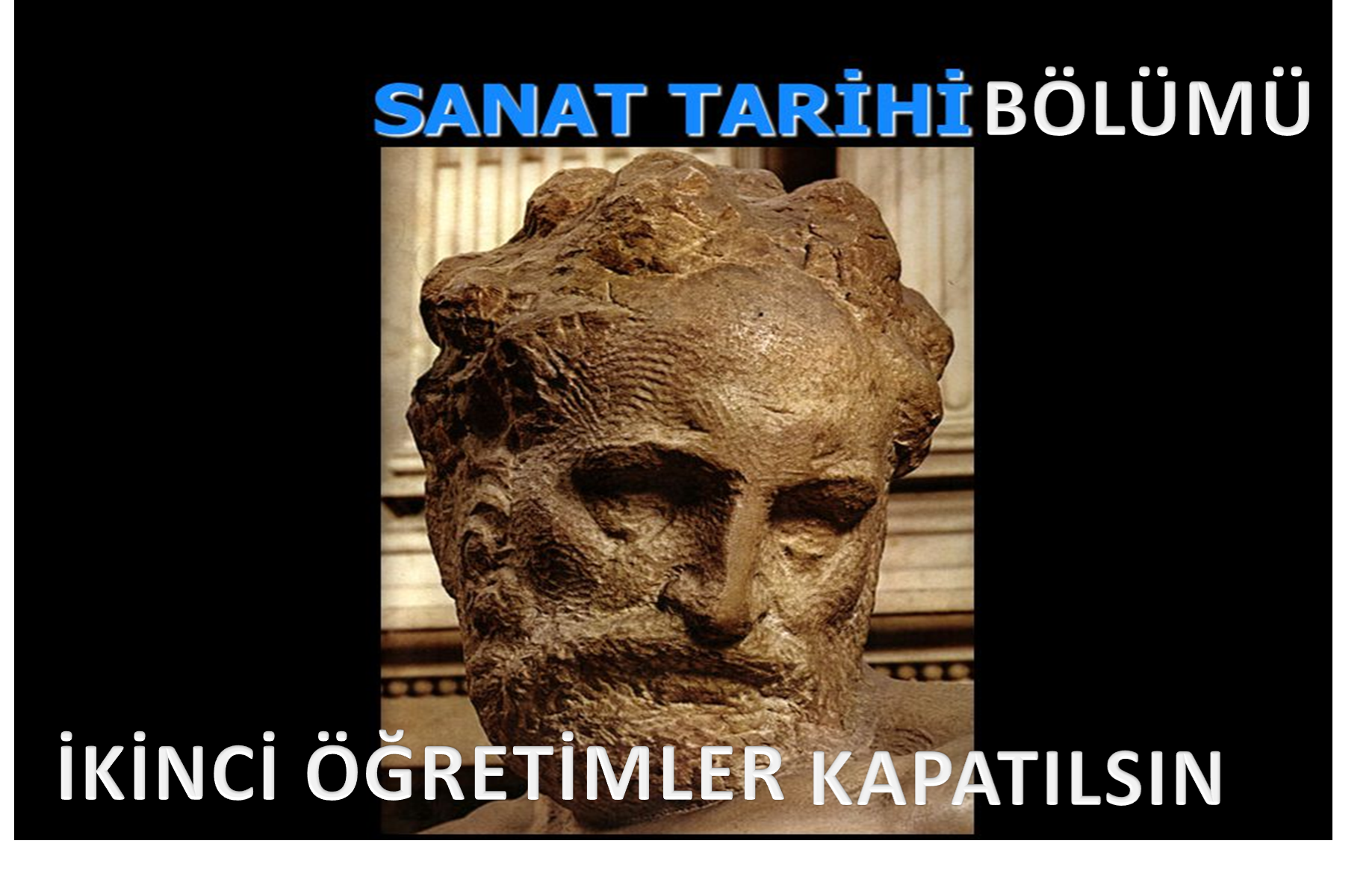 Sanat Tarihi Bölümü ikinci öğretimler kapatılsın!!!!